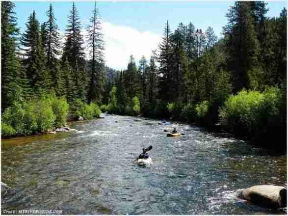 Kayaking in Taylor River