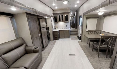 Interior Fifth Wheel Trailer