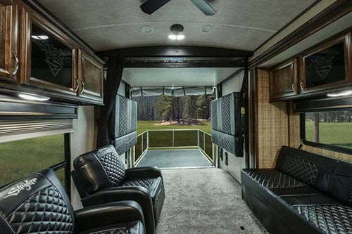 Interior Toy Hauler Travel Trailer